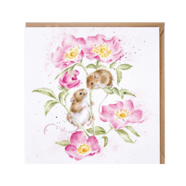 """Wrendale greeting card - """"Little Whispers"""" - muis"""