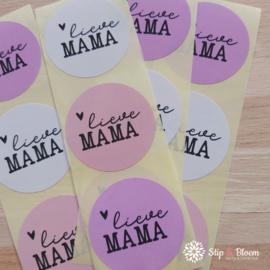 Sticker  40mm - lieve mama mix - per 20