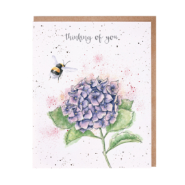 "Wrendale greeting card ""Thinking of You"" - hommel"