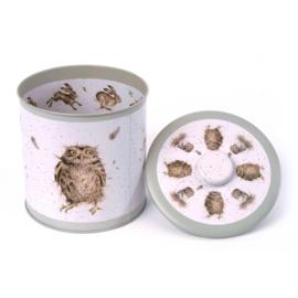 Wrendale Biscuit Barrel - hare/owl/duck