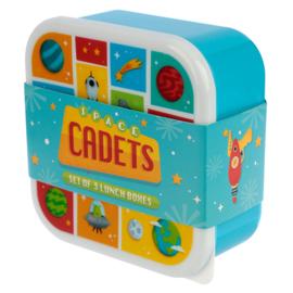 Lunchboxen set - ruimtevaart