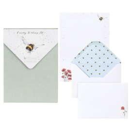 "Wrendale Letter Writing Set ""Flight of the Bumblebee"" - hommel"