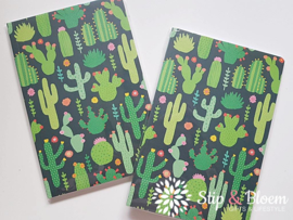 Colourful cactus A5 notebook