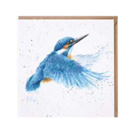 """Wrendale greeting card - """"Make a Splash"""" - ijsvogel"""