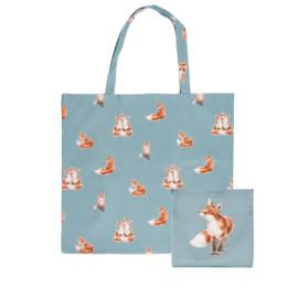 """Wrendale foldable shopping bag """"Bright Eyed & Bushy Tailed"""" - vos"""