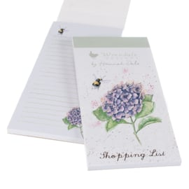 "Wrendale Magnetic Shopping Pad ""Bee and Hydrangea"""