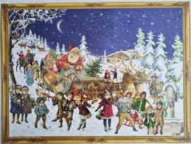 Adventskalender Kerstman met slee
