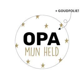 Sticker - opa mijn held - per 5