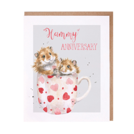 "Wrendale greeting card ""Hammy Anniversary"" - hamster"