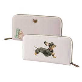 "Wrendale large purse ""Dog"" - labrador/teckel"