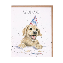 "Wrendale greeting card ""What Cake?"" - hond"