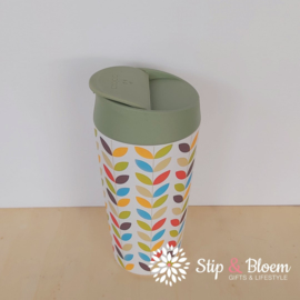 Bioloco deluxe travelcup - Bright leaves