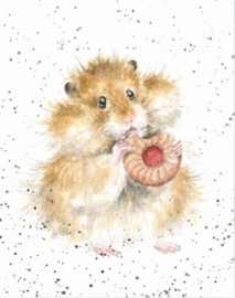 "Wrendale mini card ""The Diet Starts Tomorrow"" - hamster"