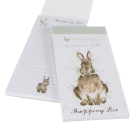 "Wrendale Magnetic Shopping Pad ""Daisy Rabbit"" - konijn"
