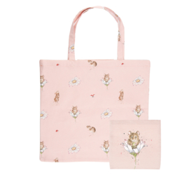 """Wrendale foldable shopping bag """"Oops a Daisy"""" - muis"""