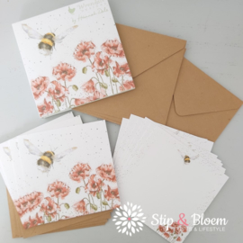 "Wrendale Notecard Pack ""Flight of the Bumblebee"" - hommel"