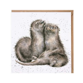 "Wrendale greeting card - ""A Love Like No Otter"""