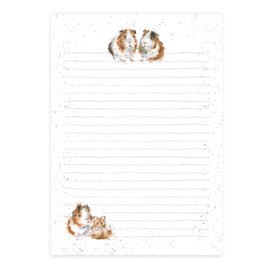 """Wrendale A5 Jotter Pad """"Piggy in the Middle"""""""