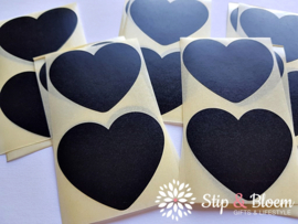 Sticker hart - 5cm - zwart - per 20