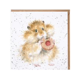"Wrendale greeting card - ""The Diet Starts Tomorrow"" - hamster"