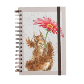 "Wrendale A5 Notebook ""Flowers Come After Rain"""