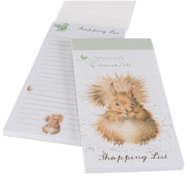 "Wrendale Magnetic Shopping Pad ""Squirrel"" - eekhoorn"
