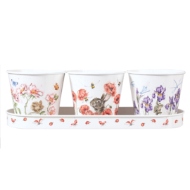 Wrendale Set of 3 Herb Pots - Floral