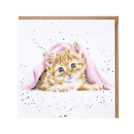 """Wrendale greeting card - """"Duvet Day"""" - poes"""