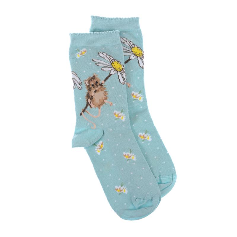 """Wrendale sokken """"Oops-a-Daisy"""" - muis"""