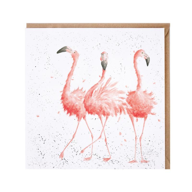 "Wrendale greeting card - ""Pink Ladies"" - flaming"