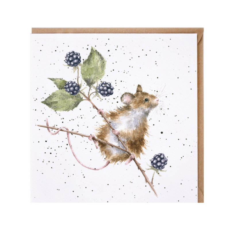 "Wrendale greeting card - ""Brambles"" - muis"