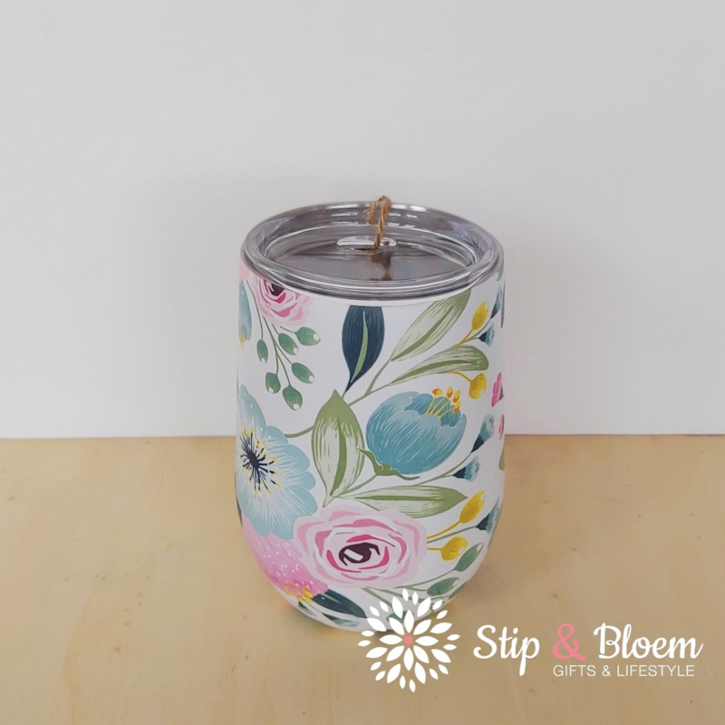 Bioloco rvs Office cup - Pastel flowers
