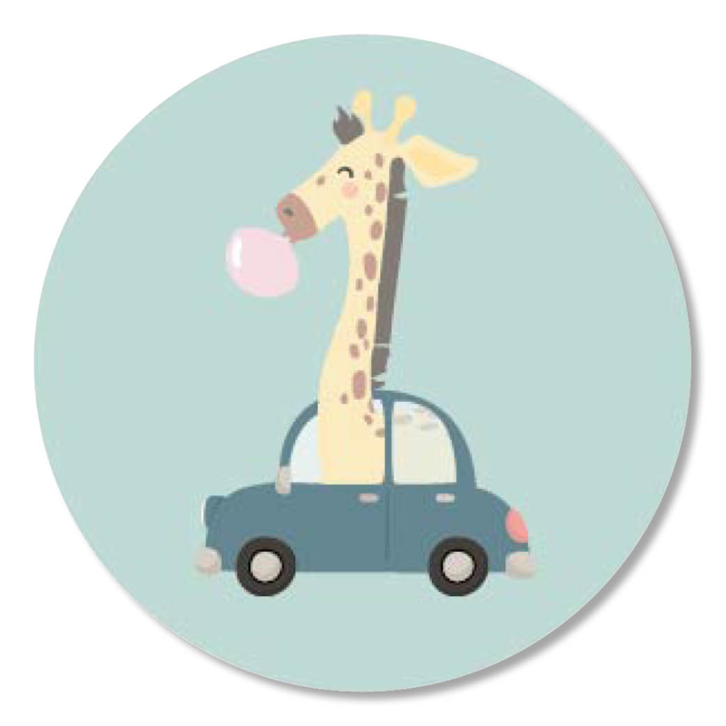 Tante Kaartje sticker 50mm - Boho Animals - Giraffe - per 10