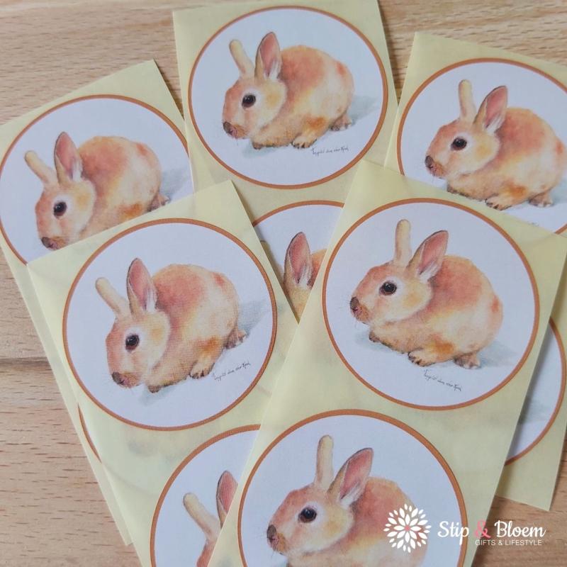 Sticker 45mm - konijn - per 10