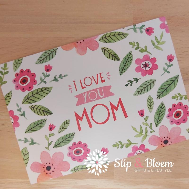 Ansichtkaart - I love you mom
