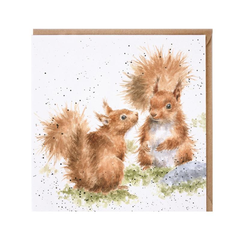 """Wrendale greeting card - """"Between Friends"""" - eekhoorn"""