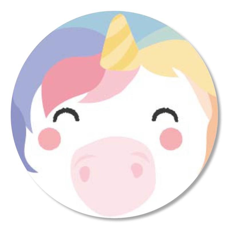 Tante Kaartje sticker 50mm - Faces - Unicorn - per 10
