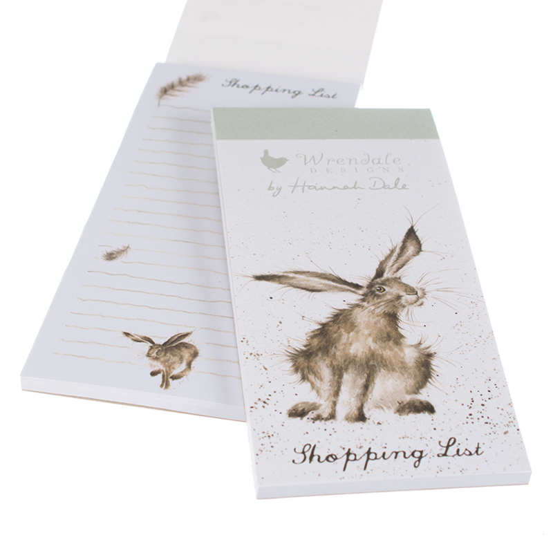 """Wrendale Magnetic Shopping Pad """"Hare"""" - haas"""