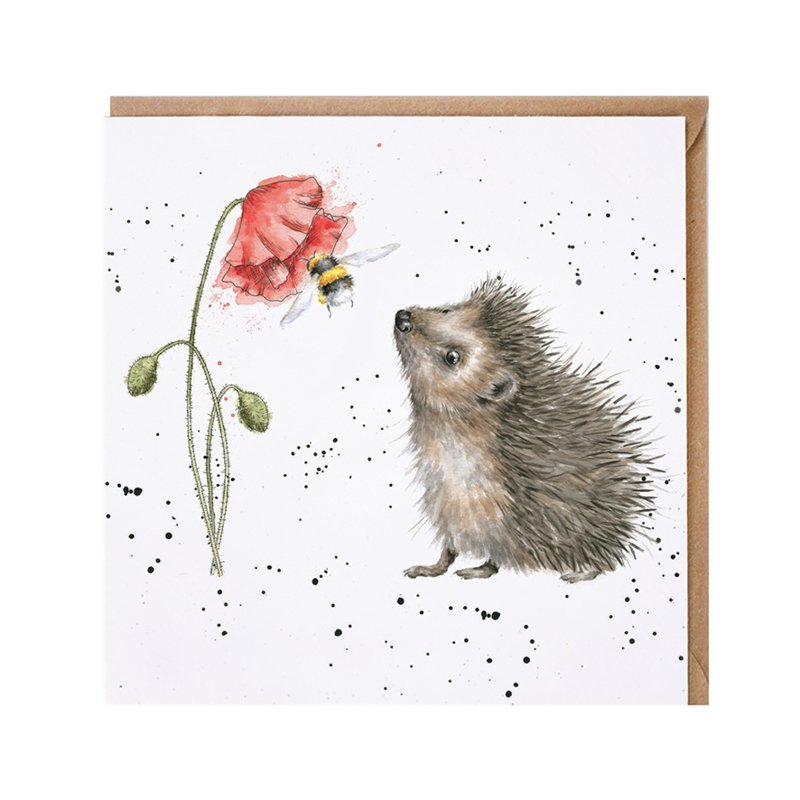 """Wrendale greeting card - """"Busy as a Bee"""" - egel"""