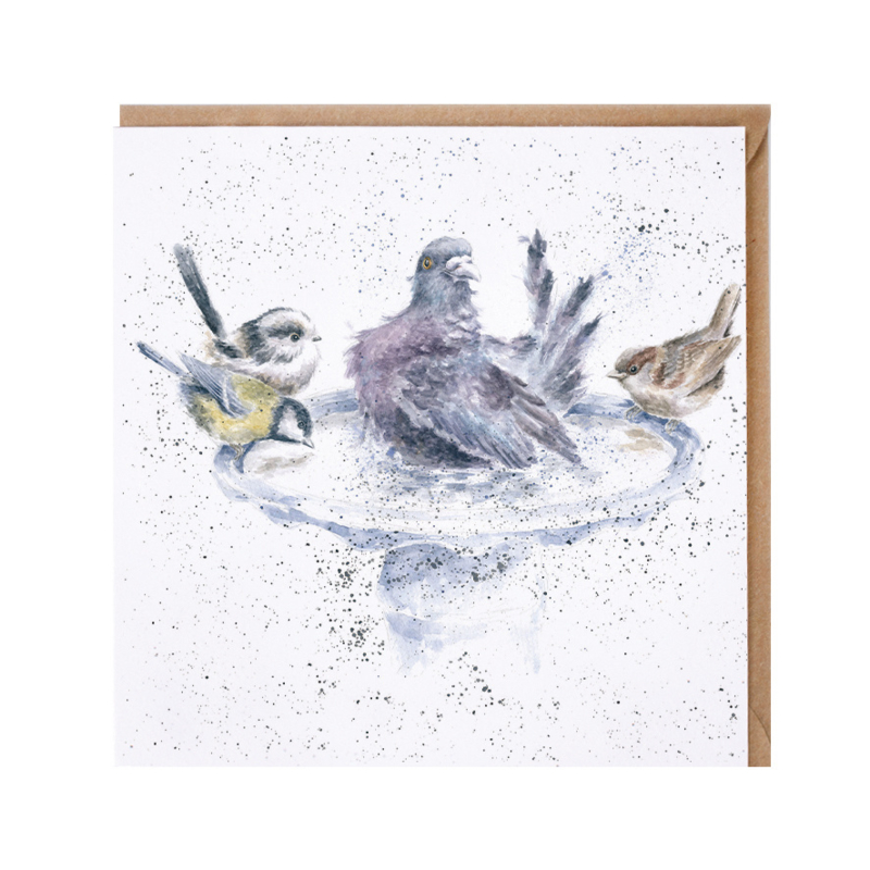 """Wrendale greeting card - """"Is it Our Turn Yet?"""" - vogels"""