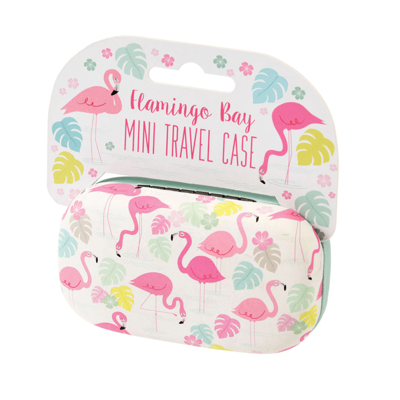 Mini travel case - flamingo bay