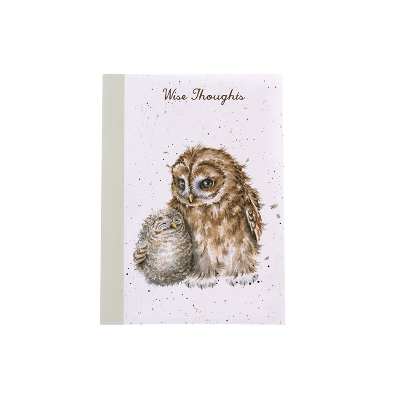 """Wrendale A6 Paperback Notebook """"Owls"""""""