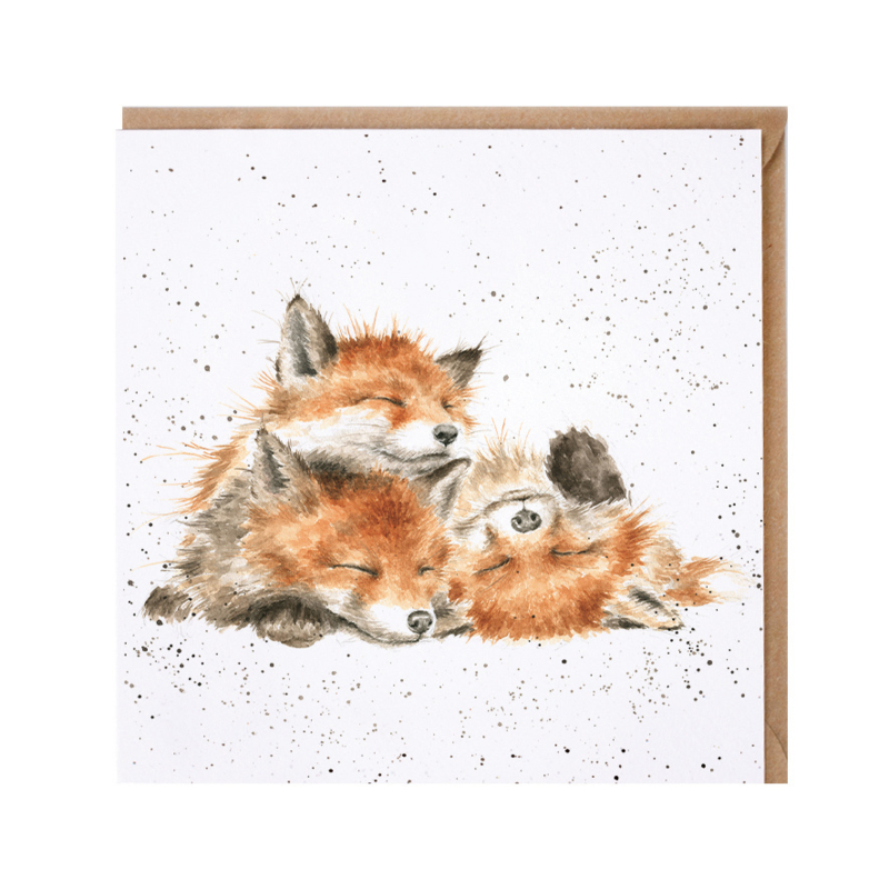"""Wrendale greeting card - """"The Afternoon Nap"""" - vos"""