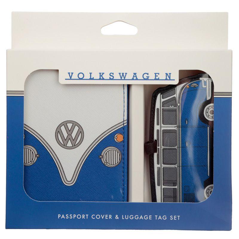 Paspoorthoesje & kofferlabel - Volkswagen blauw
