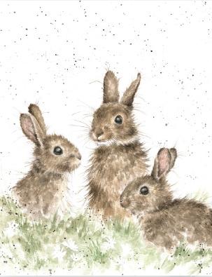 "Wrendale mini card ""Born Free"" - konijnen"