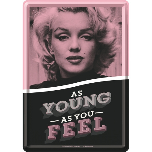 Metal postcard - As young as you feel