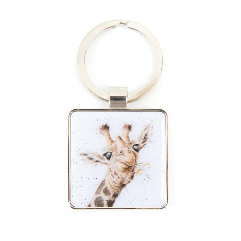 """Wrendale sleutelhanger """"Flowers"""" - giraffe"""