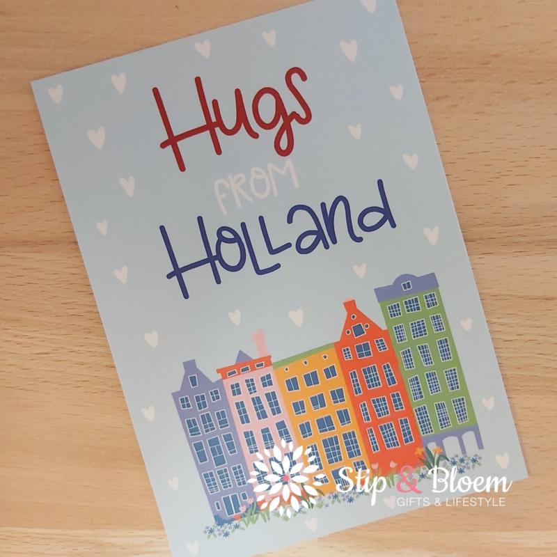 Ansichtkaart - Hugs from Holland