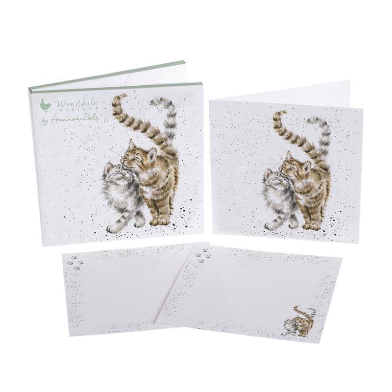 """Wrendale Notecard Pack """"Feline good"""" - kat"""