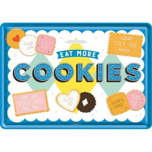 Metal postcard - Eat More Cookies